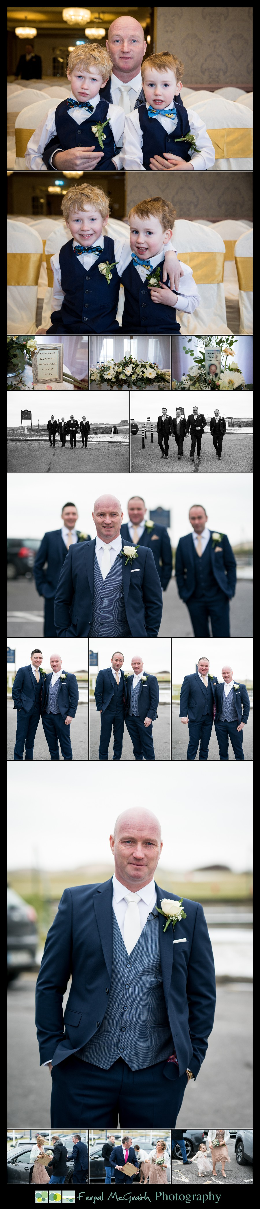 Great Northern Hotel Bundoran Winter Wedding groom and his groomsmen photos