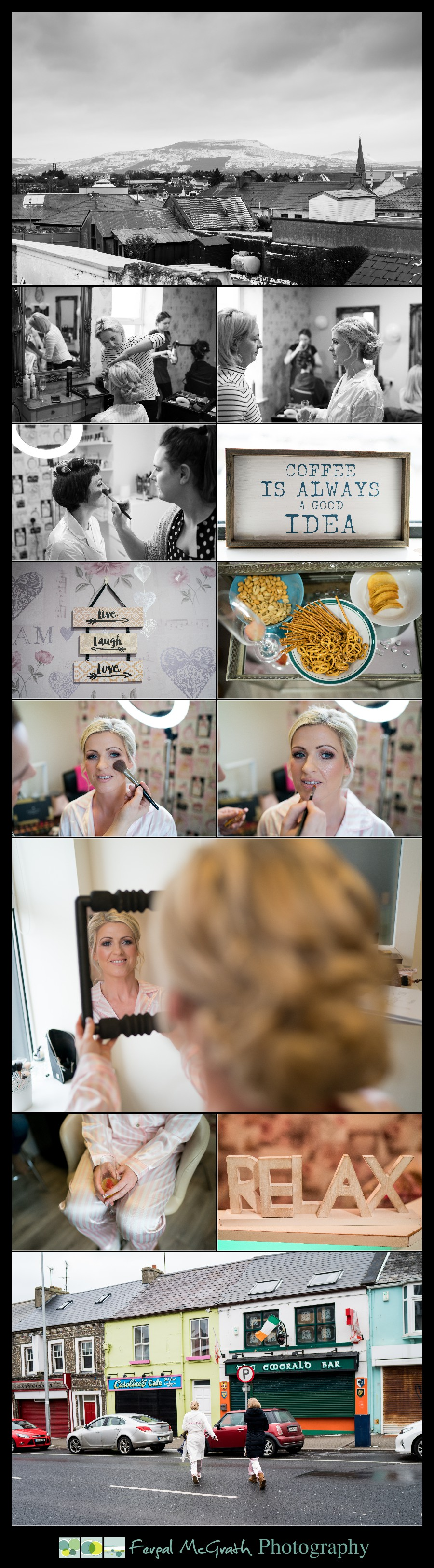 Great Northern Hotel Bundoran Winter Wedding bride getting ready photos