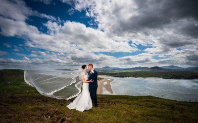 ballyliffin lodge wedding bride and groom photo