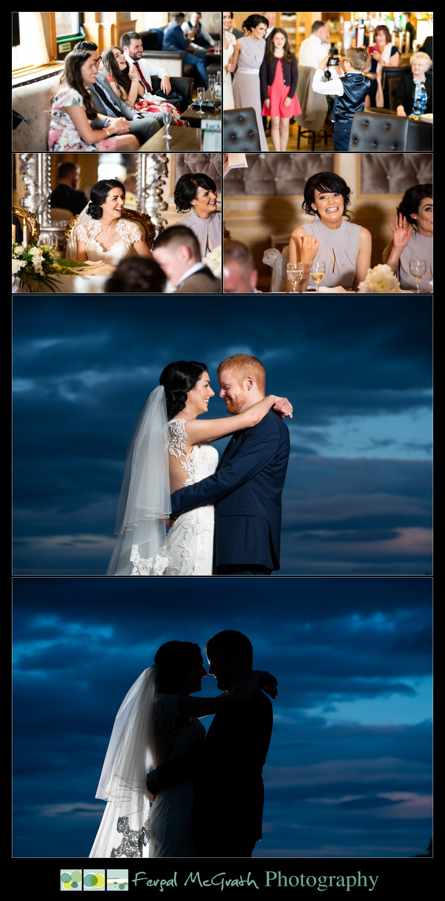 Ballyliffin Lodge Hotel Weddings bride and groom sunset photos