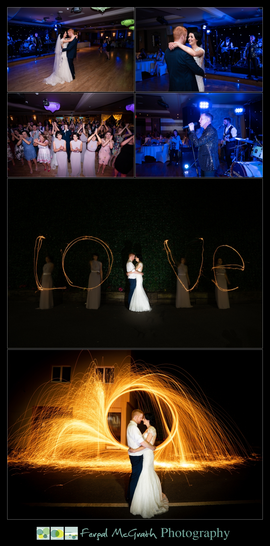Ballyliffin Lodge Hotel Weddings bride and groom after dark photos