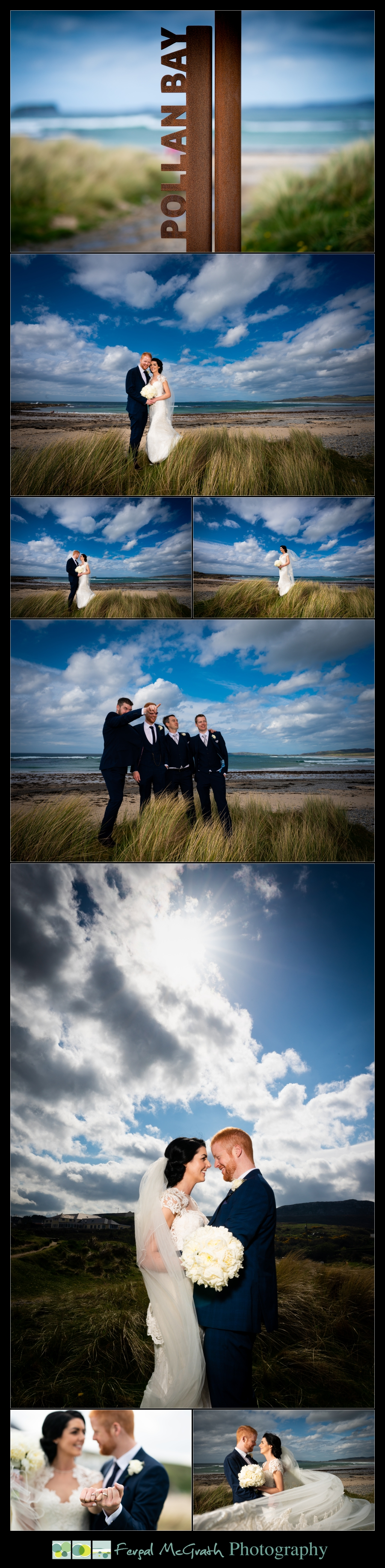 Ballyliffin Lodge Hotel Weddings bride and groom on pollen bay beach
