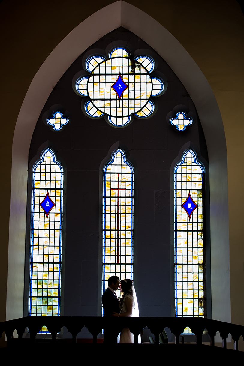 kilronan castle winter wedding bride and groom church photo