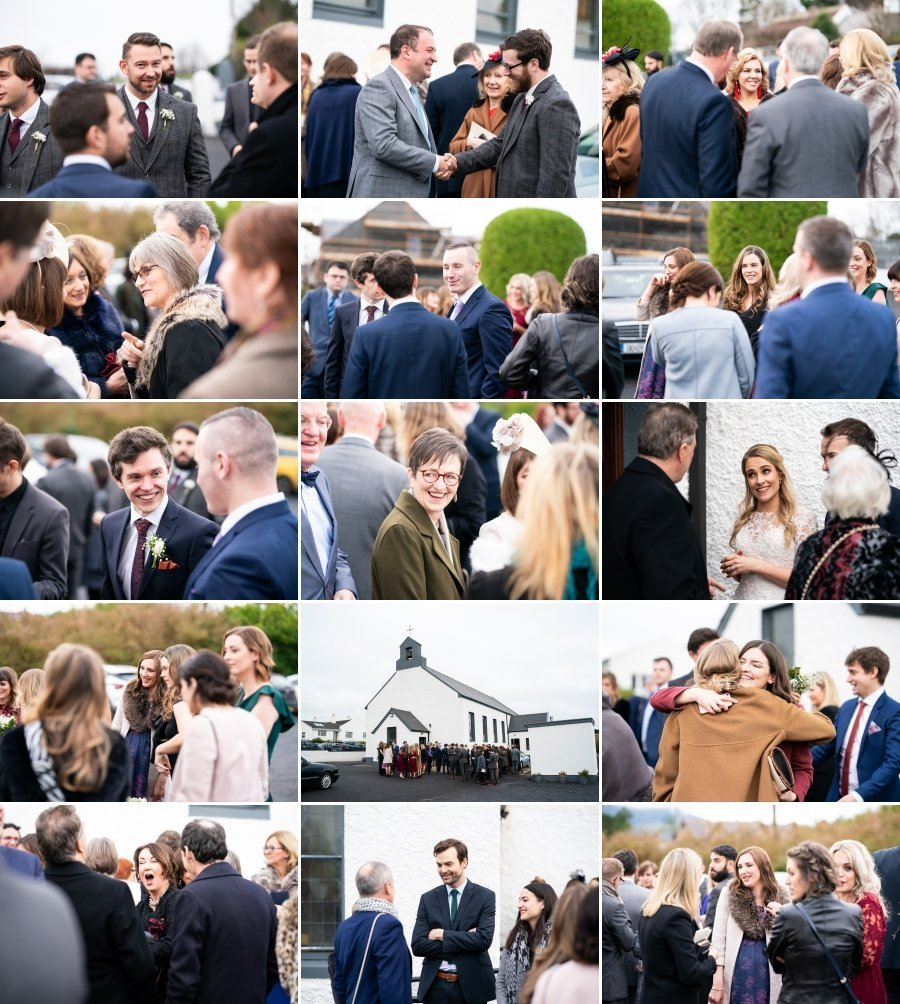 Markree Castle Sligo Wedding guests having fun