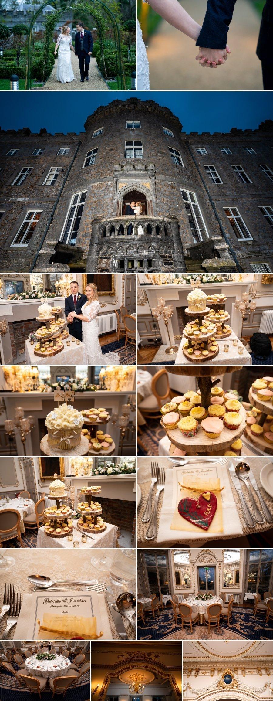 Markree Castle Sligo Wedding bride and groom cut the cake