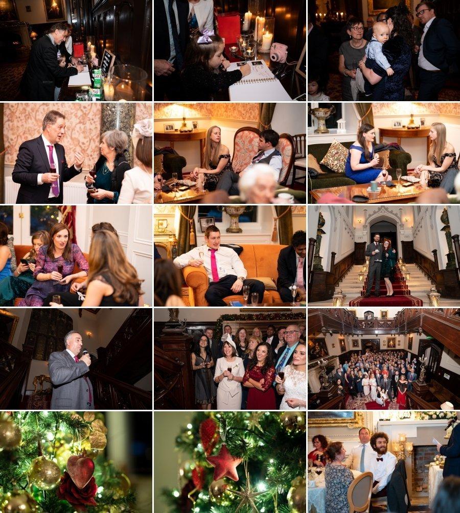 Markree Castle Sligo Wedding guests enjoy the party