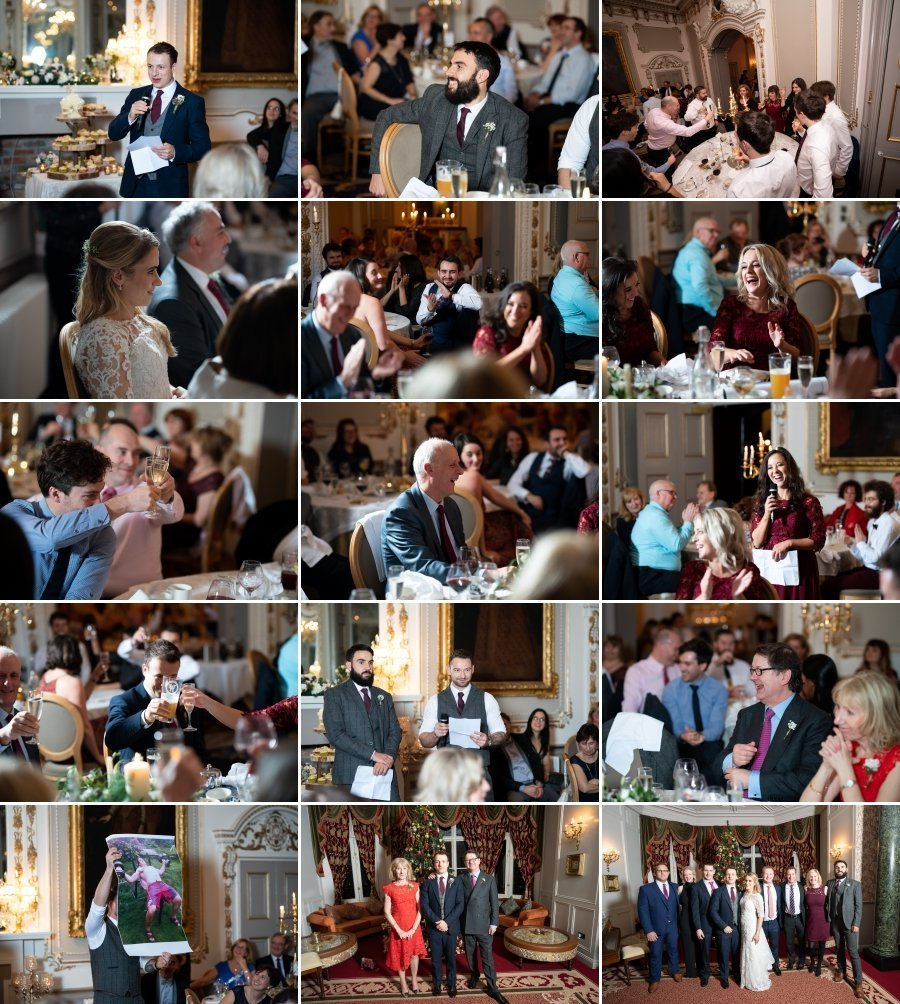 Markree Castle Sligo Wedding the speeches