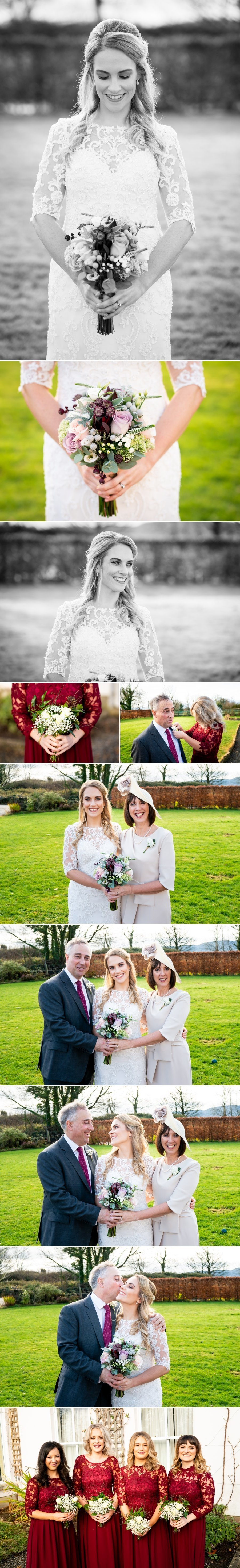 Markree Castle Sligo Wedding stunning sligo bride and her family