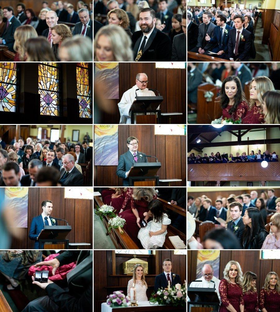 Markree Castle Sligo Wedding wedding ceremony in rosses point church