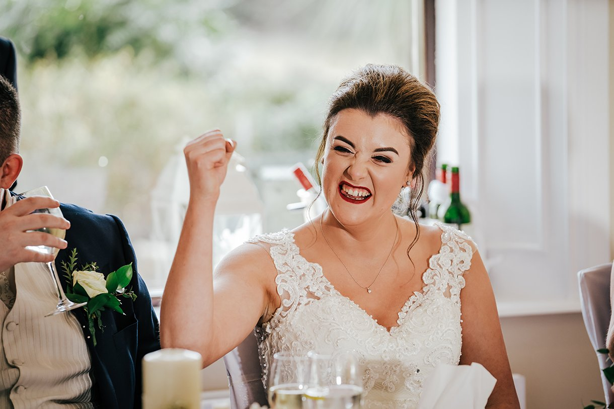 An Chuirt Hotel Gweedore Weddings bride happy with the speeches
