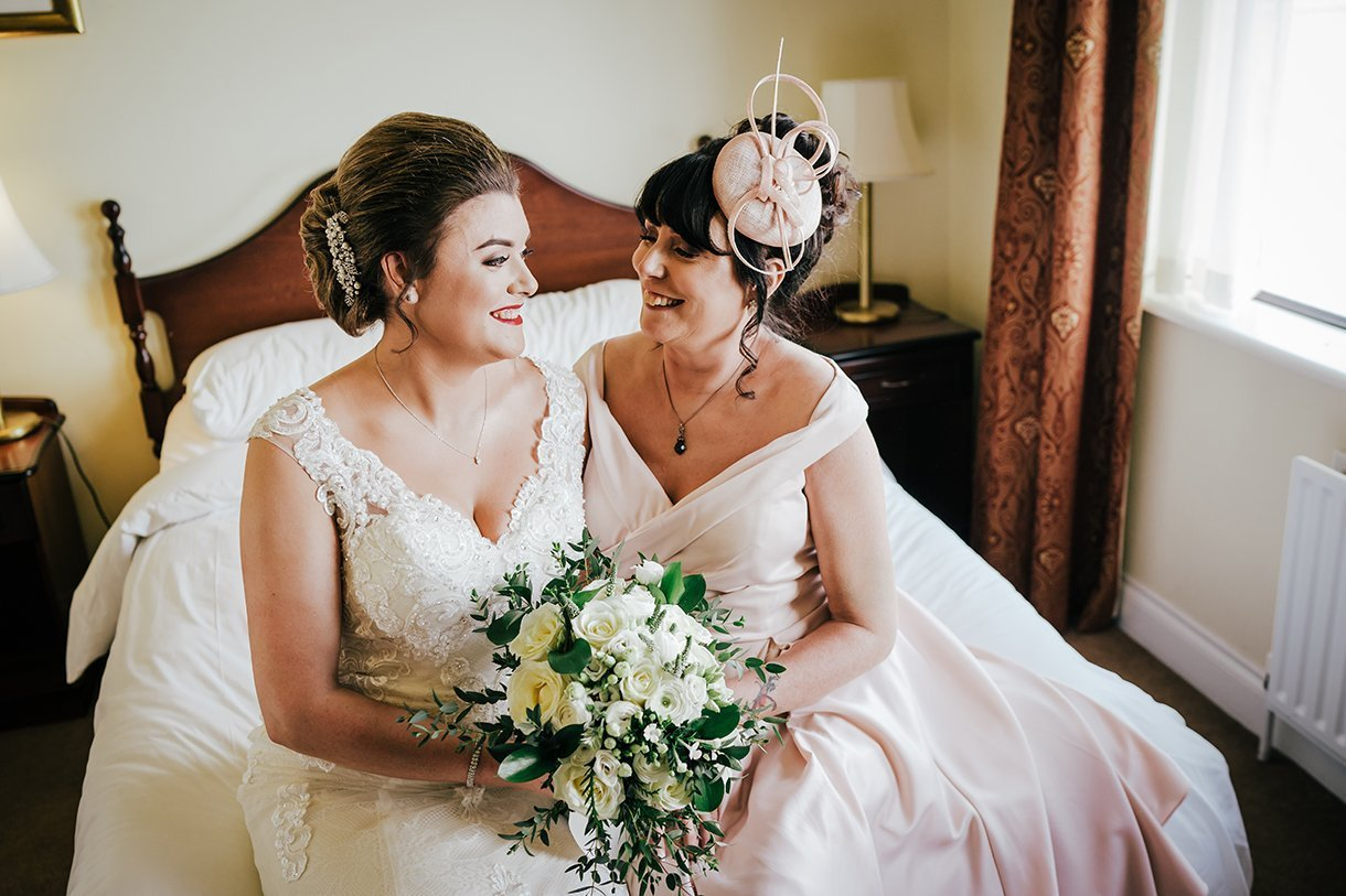 An Chuirt Hotel Gweedore Weddings the bride and her mum