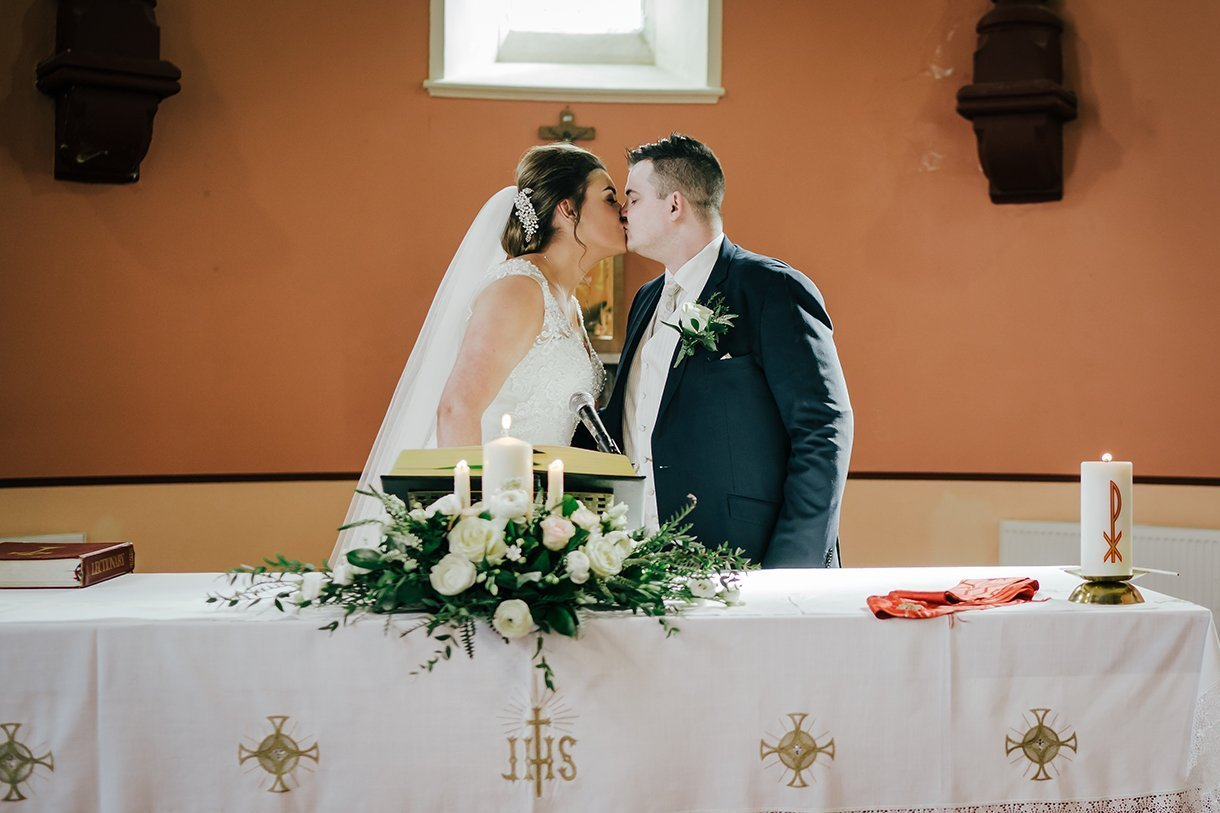 An Chuirt Hotel Gweedore Weddings the first kiss