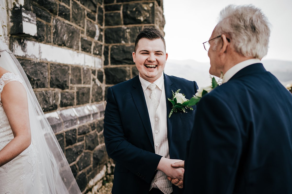 An Chuirt Hotel Gweedore Weddings groom and his dad
