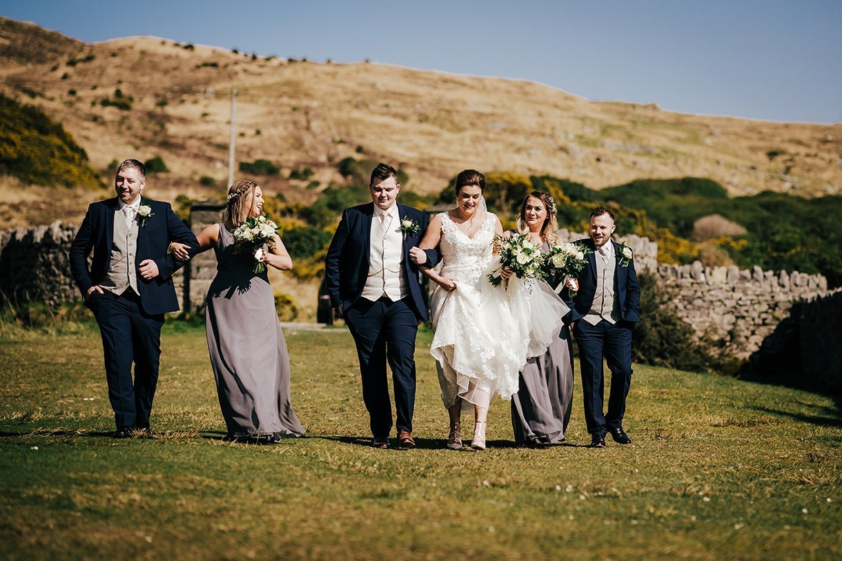 An Chuirt Hotel Gweedore Weddings bridal party