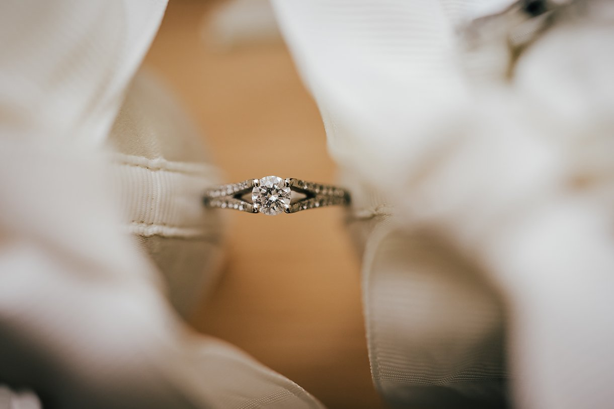 Waterfront Hotel Dungloe Wedding brides engagement ring and wedding shoes