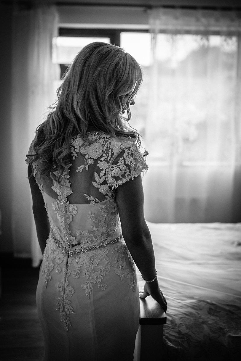 Waterfront Hotel Dungloe Wedding brides wedding dress detail