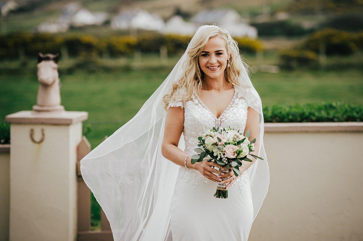 Waterfront Hotel Dungloe Wedding stunning Irish bride photo on her wedding day