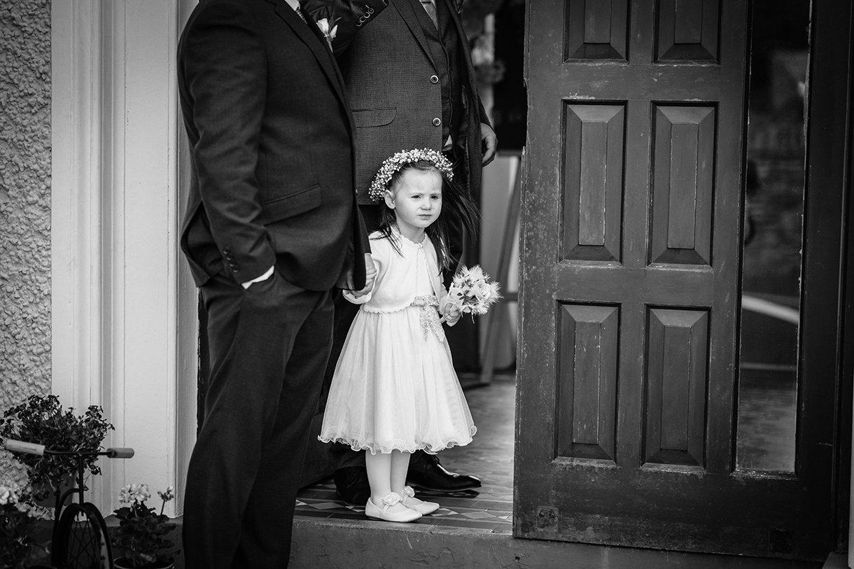 Waterfront Hotel Dungloe Wedding flower girl photo