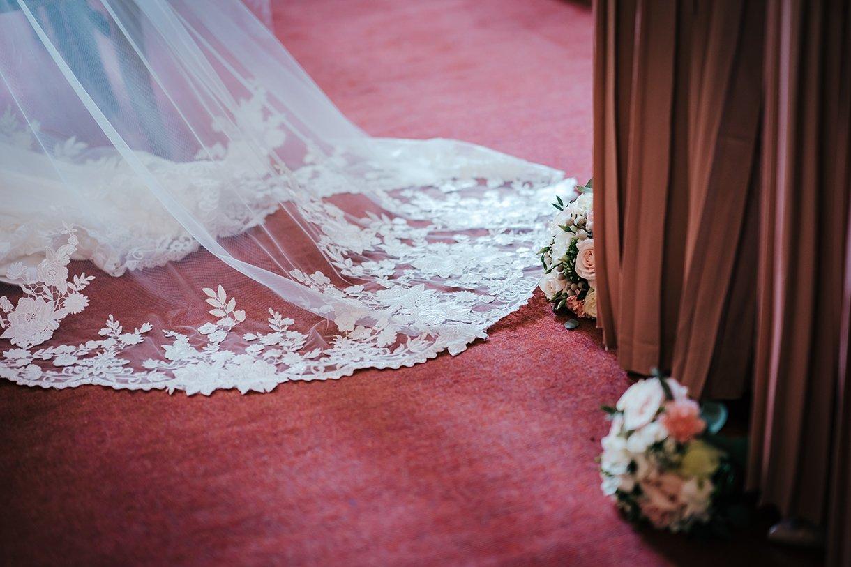 Waterfront Hotel Dungloe Wedding wedding dress details