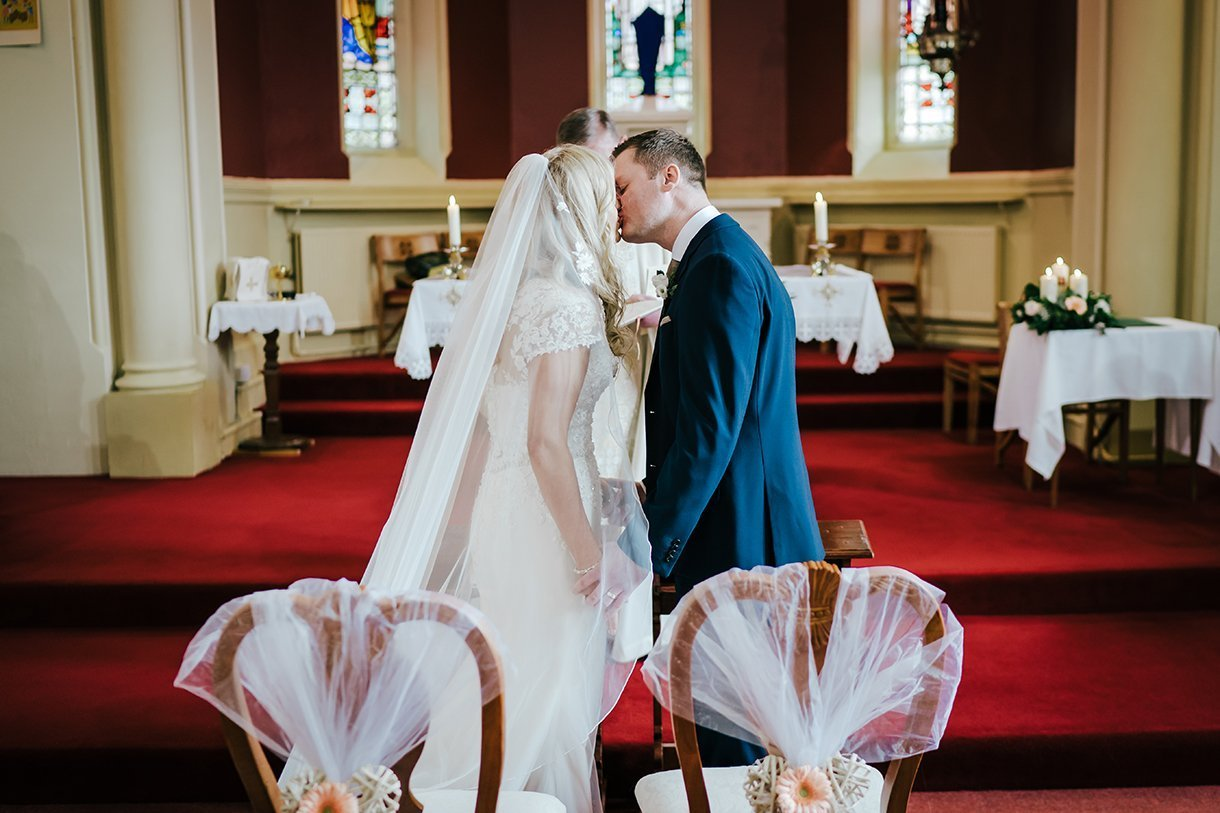 Waterfront Hotel Dungloe Wedding bride and grooms first kiss