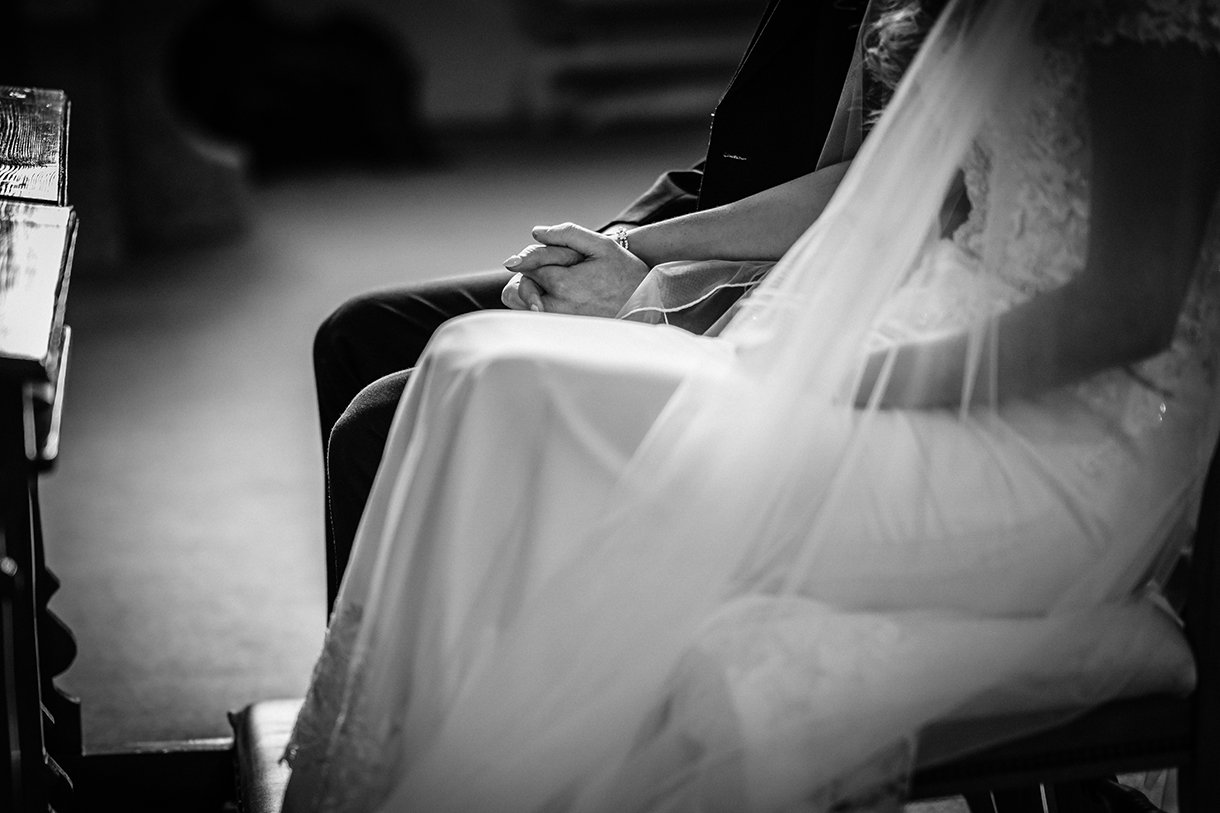Waterfront Hotel Dungloe Wedding bride and groom holding hands