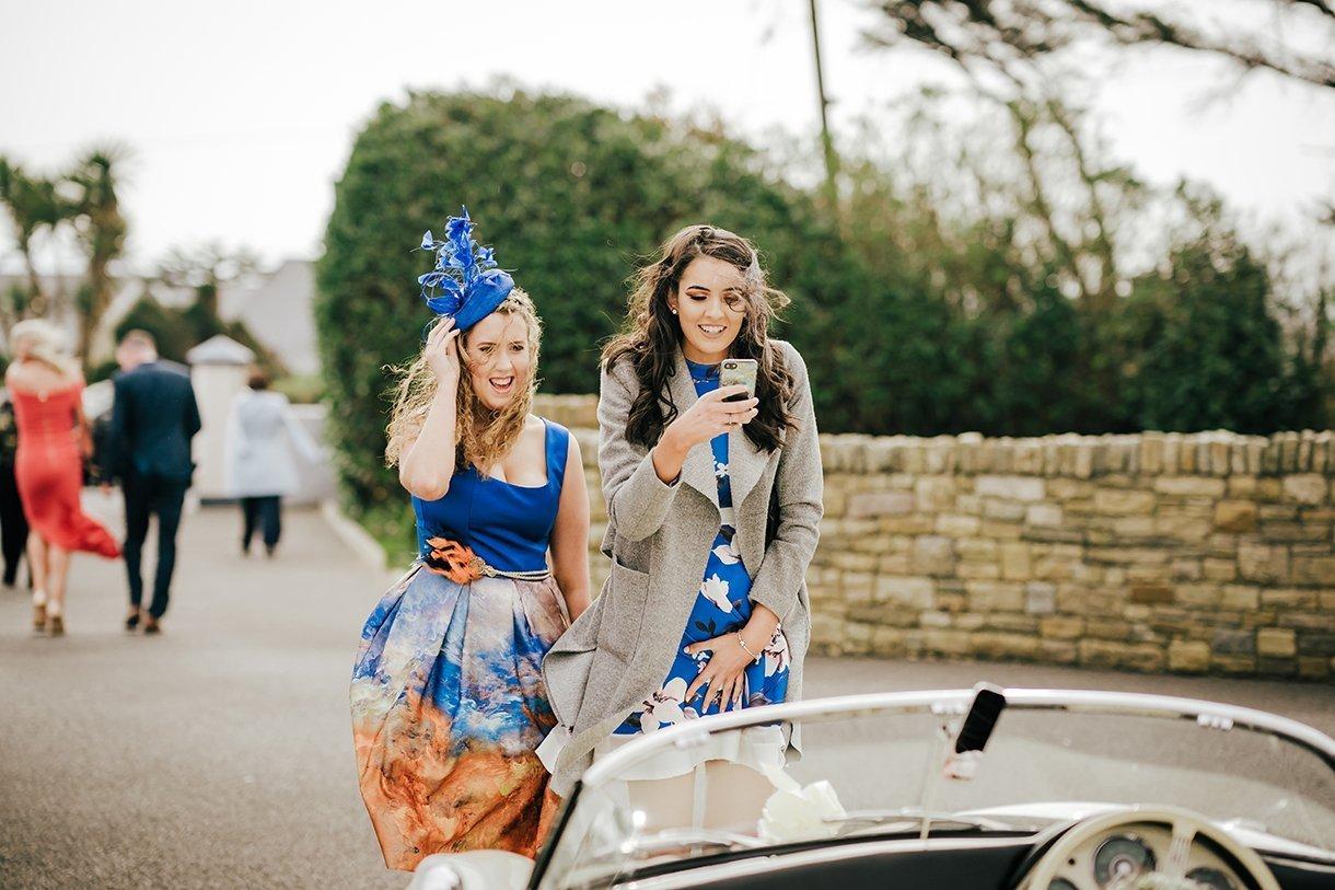 Waterfront Hotel Dungloe Wedding guests take photos