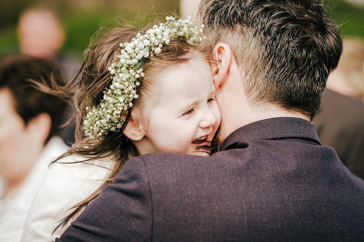 Waterfront Hotel Dungloe Wedding flowergirl smiling