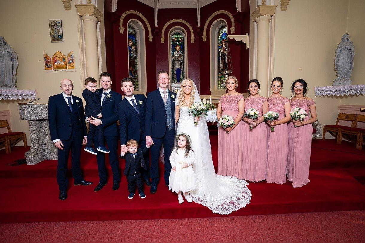 Waterfront Hotel Dungloe Wedding bridal party photo