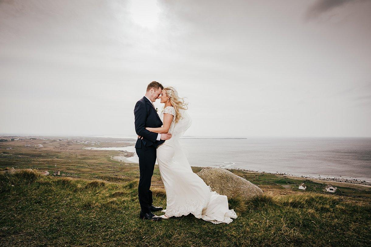 Waterfront Hotel Dungloe Wedding photos at bloody foreland gweedore