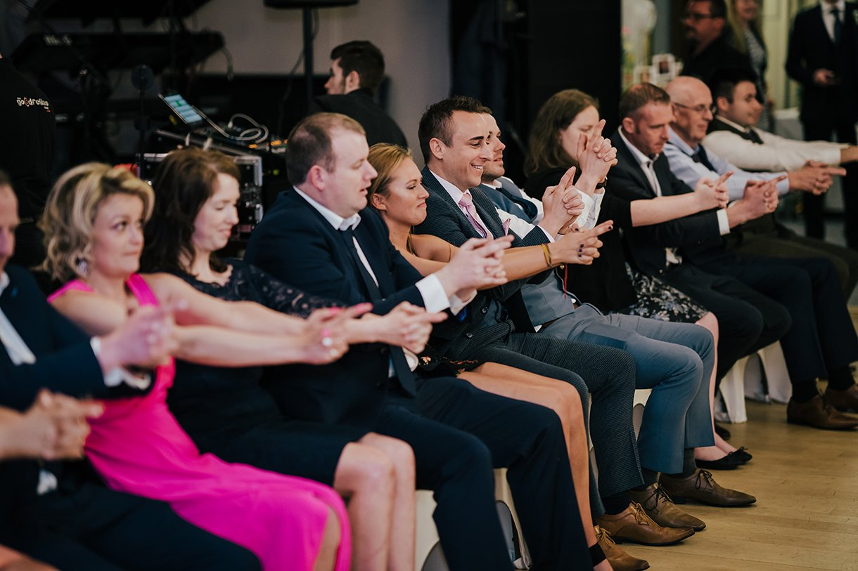 Waterfront Hotel Dungloe Wedding hypnotist dale thomas at the wedding
