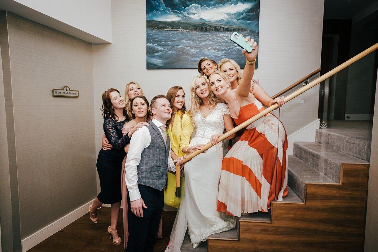 Waterfront Hotel Dungloe Wedding selfie time