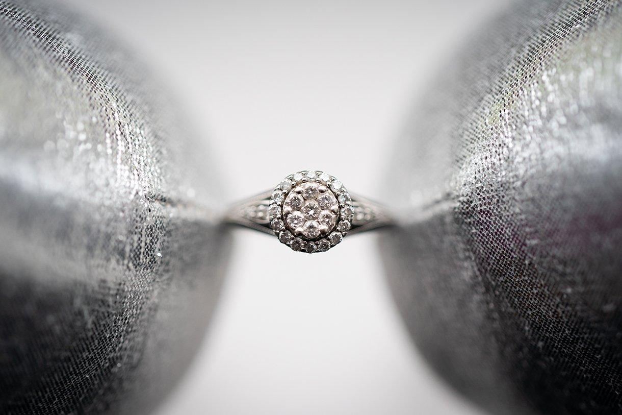 Allingham Hotel Bundoran Wedding brides engagement ring