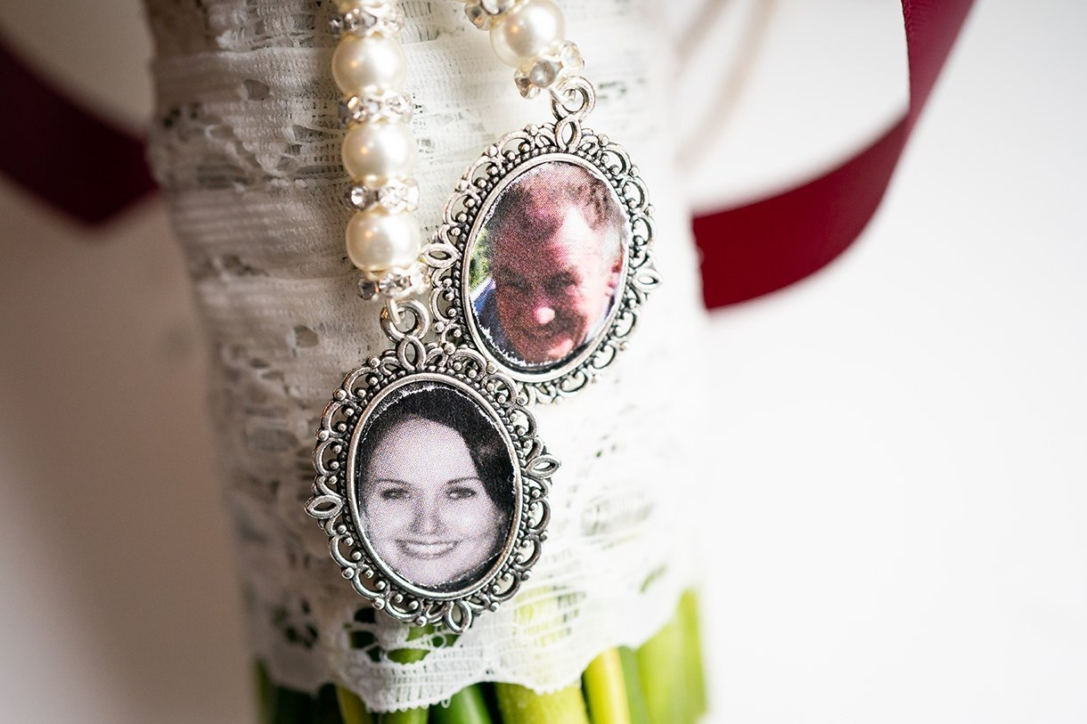 Allingham Hotel Bundoran Wedding wedding bouquet badges