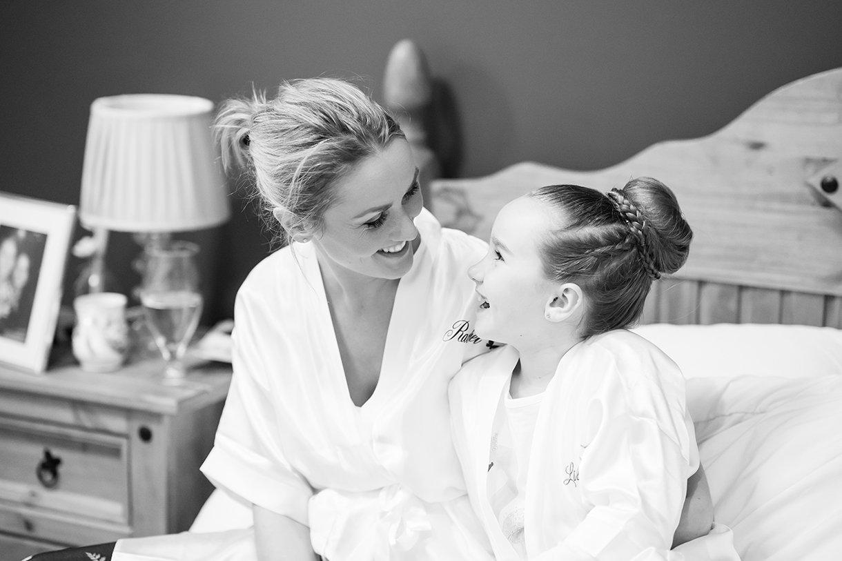 Allingham Hotel Bundoran Wedding bride and her daughter