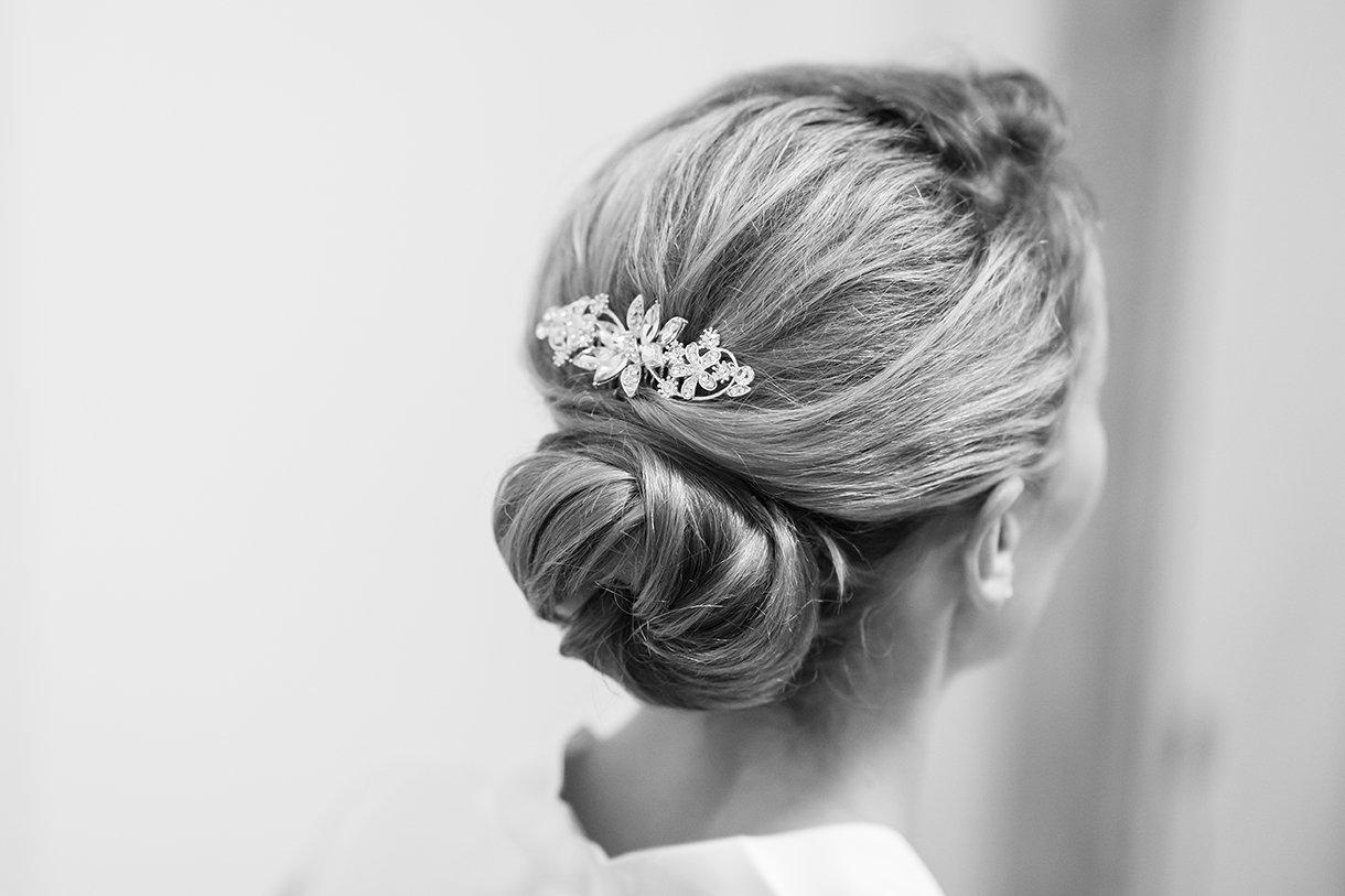 Allingham Hotel Bundoran Wedding brides hair clip