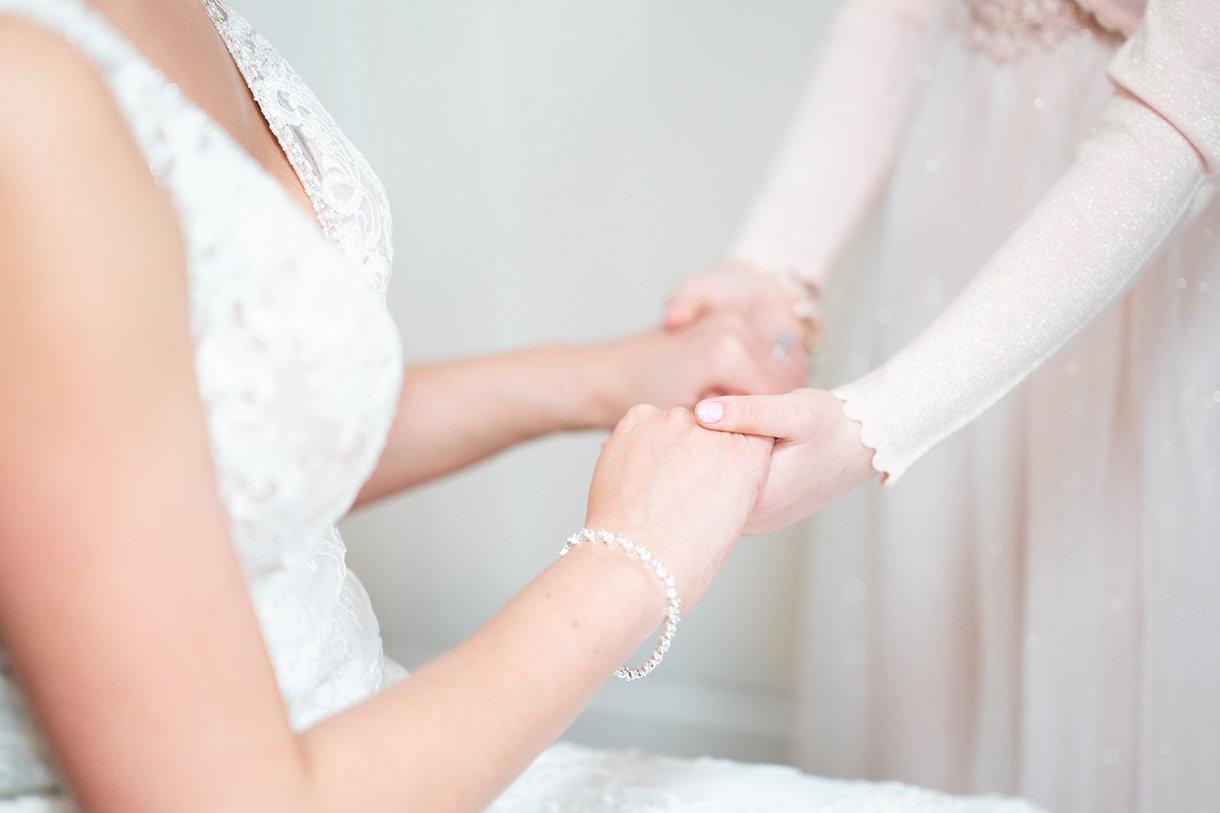 Allingham Hotel Bundoran Wedding bride holds daughters hands