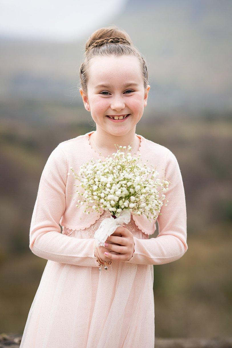 Allingham Hotel Bundoran Wedding flower girl photo