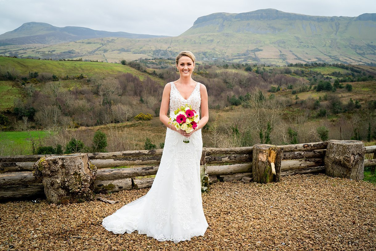 Allingham Hotel Bundoran Wedding bride portrait in glenade