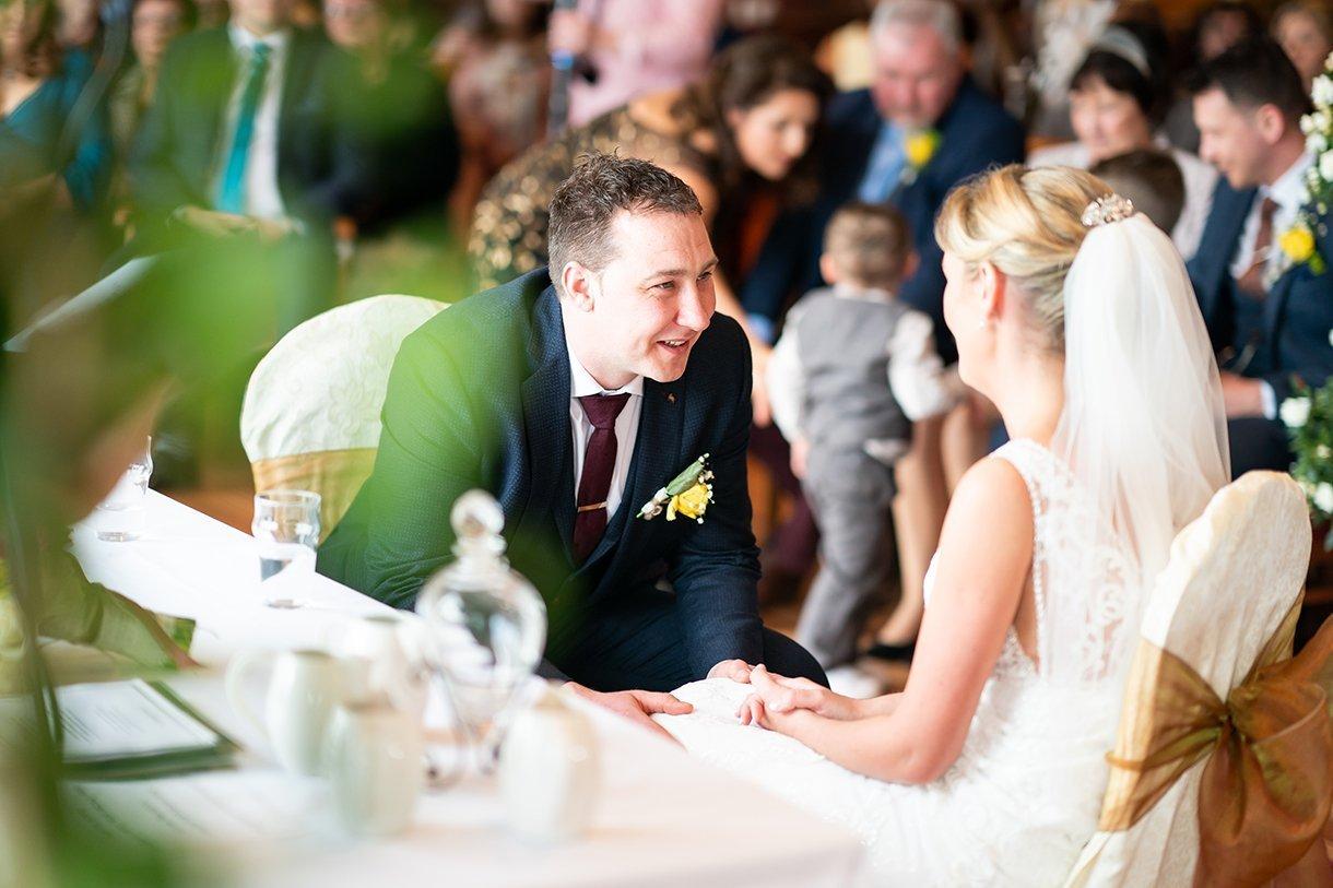 Allingham Hotel Bundoran Wedding groom in the ceremony