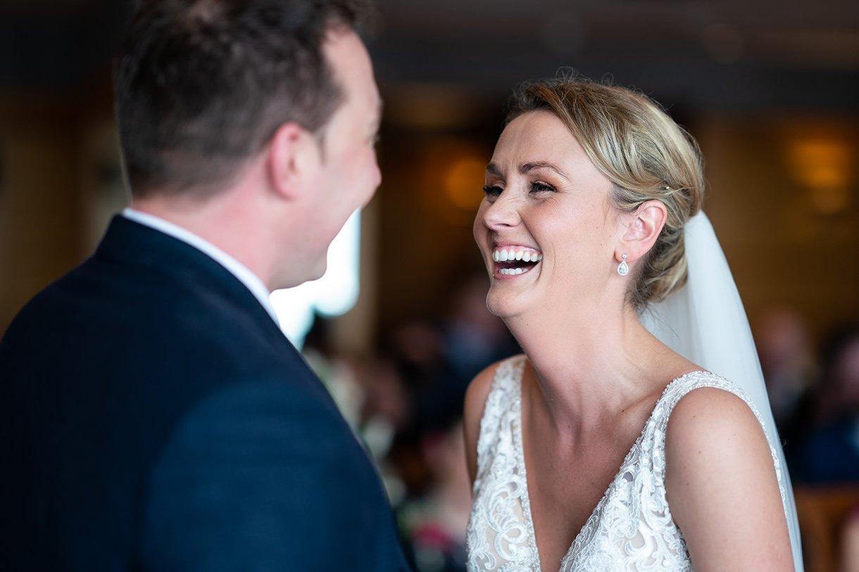 Allingham Hotel Bundoran Wedding bride laughing