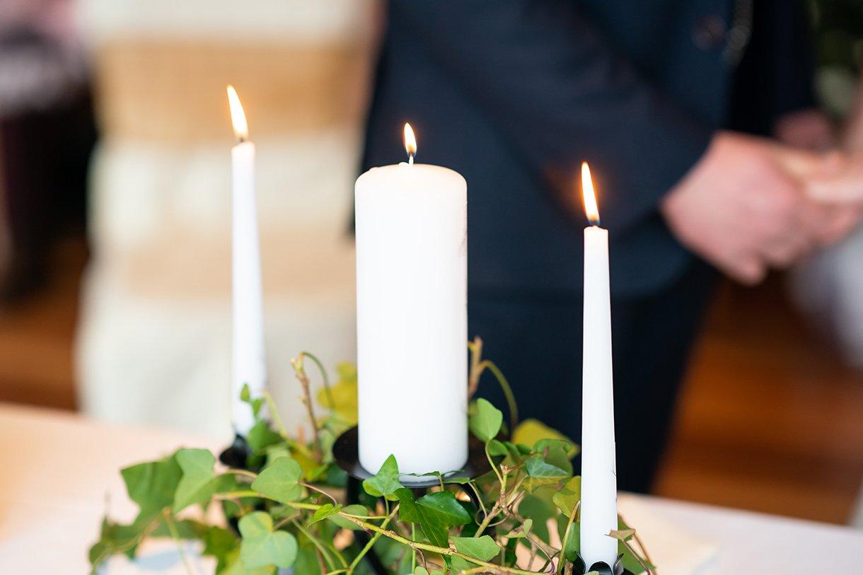 Allingham Hotel Bundoran Wedding candles