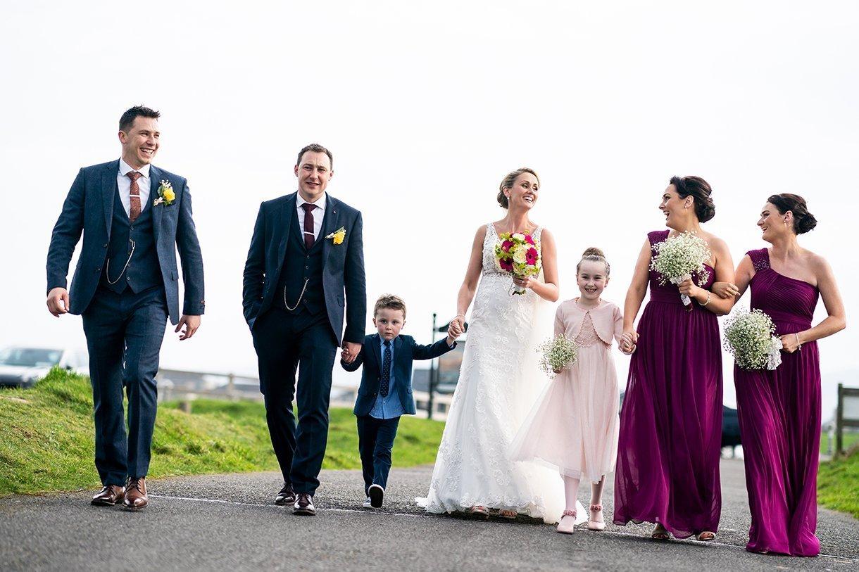 Allingham Hotel Bundoran Wedding bridal party walking