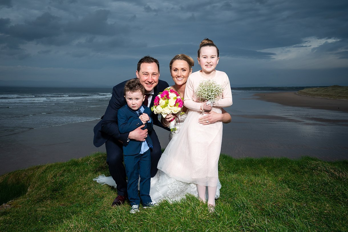 Allingham Hotel Bundoran Wedding family photo