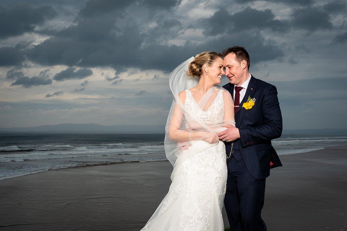 Allingham Hotel Bundoran Wedding bride and groom photo