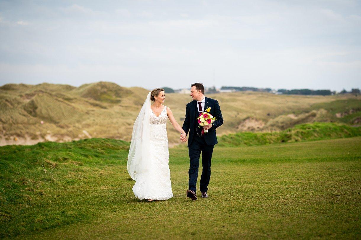 Allingham Hotel Bundoran Wedding bride and groom walk