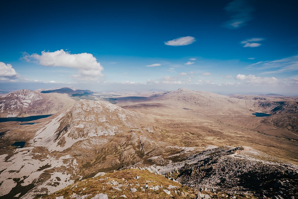 Errigal Mountain Wedding view from the top