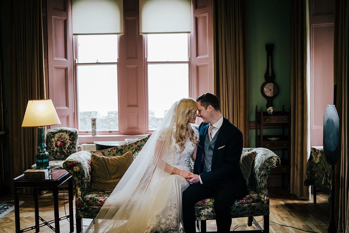 Glenveagh National Park Wedding inside the castle