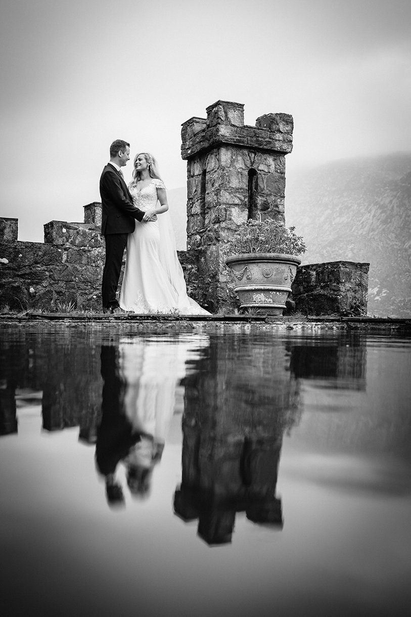 Glenveagh National Park Wedding reflection in the pool photo