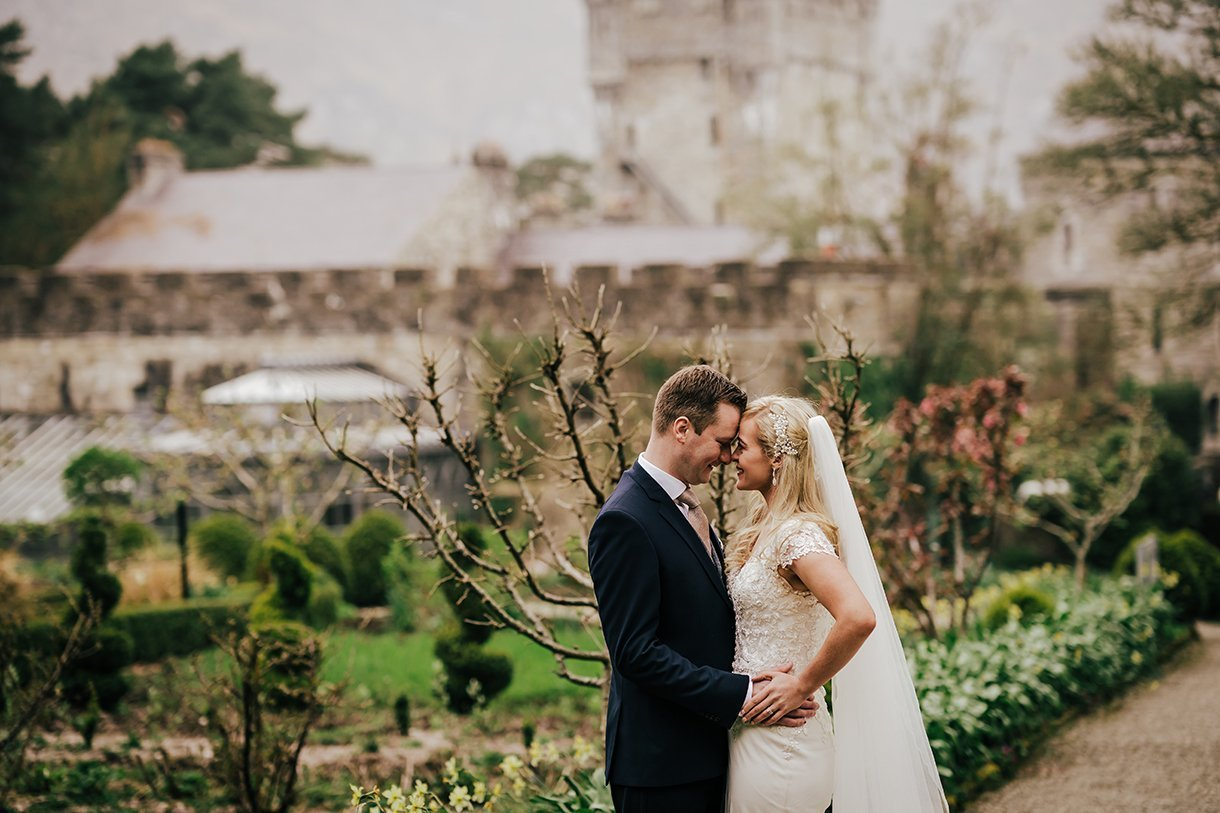 Glenveagh National Park Wedding photo in castle gardens