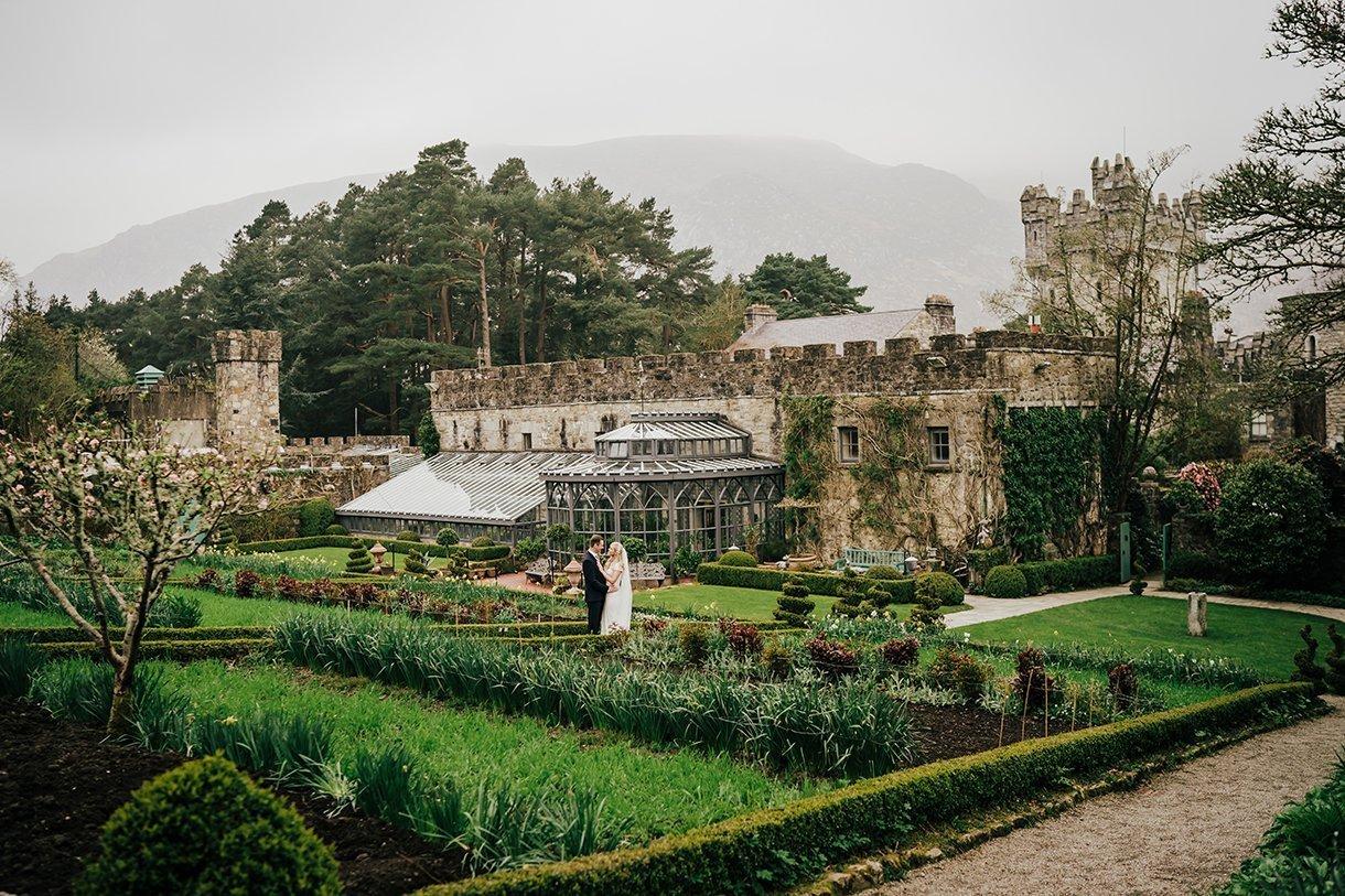 Glenveagh National Park Wedding view of castle gardens
